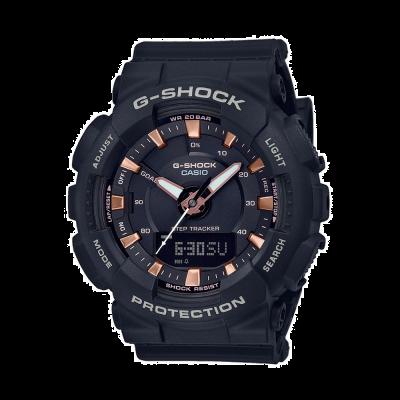 Casio G-shock步跟踪器黑色树脂表带 GMA-S130PA-1AER