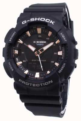 Casio G-SHOCK踏步追踪器黑色树脂表带 GMA-S130PA-1AER