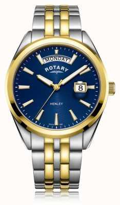Rotary |男士亨利|蓝色表盘|不锈钢手链| GB05291/05
