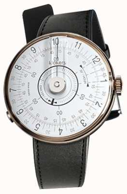 Klokers Klok 08白色手表头黑色缎面单肩带 KLOK-08-D1+KLINK-01-MC1