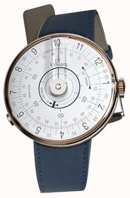 Klokers Klok 08白色手表头靛蓝蓝色单肩带 KLOK-08-D1+KLINK-01-MC3