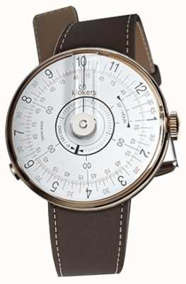 Klokers Klok 08白色手表头巧克力棕色单肩带 KLOK-08-D1+KLINK-01-MC4