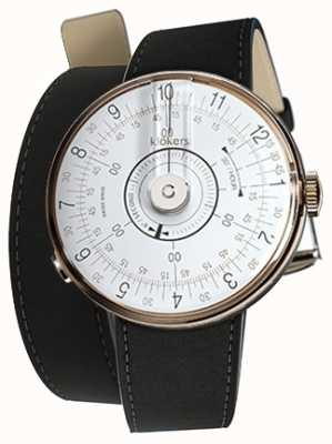 Klokers Klok 08白色手表头垫黑色420mm双肩带 KLOK-08-D1+KLINK-02-420C2