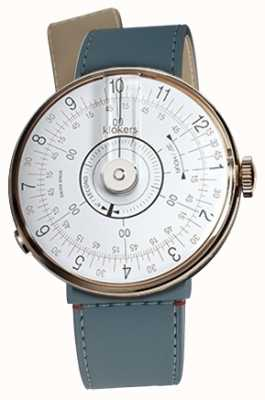 Klokers Klok 08白色手表头蓝色牛仔海峡单肩带 KLOK-08-D1+KLINK-04-LC10