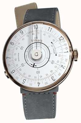Klokers Klok 08白色手表头灰色alcantara海峡单肩带 KLOK-08-D1+KLINK-04-LC11