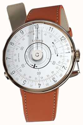 Klokers Klok 08白色手表头橙色alcantara单肩带 KLOK-08-D1+KLINK-01-MC5