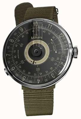 Klokers Klok 08黑色表盘绿色纺织单肩带 KLOK-08-D3+KLINK-03-MC2