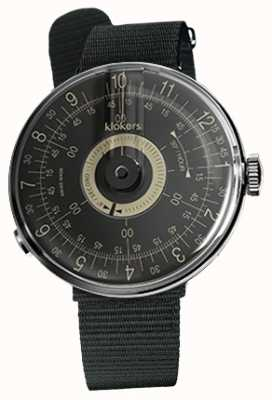 Klokers Klok 08黑色表盘黑色纺织单肩带 KLOK-08-D3+KLINK-03-MC3