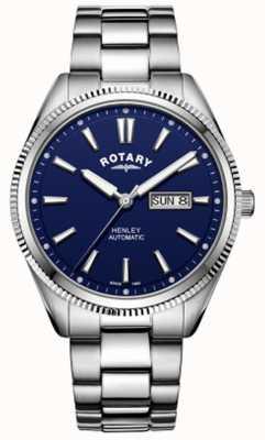 Rotary |男士亨利|锯齿状表圈|蓝色表盘|不锈钢 GB05380/05