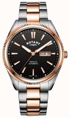 Rotary |男士亨利|锯齿状表圈|不锈钢表带| GB05382/04