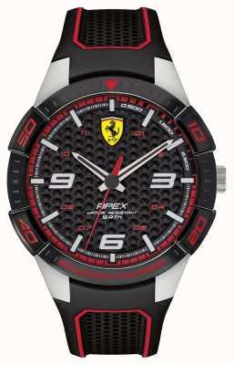 Scuderia Ferrari |男士的顶点|黑色橡胶表带| blackred dial | 0830630