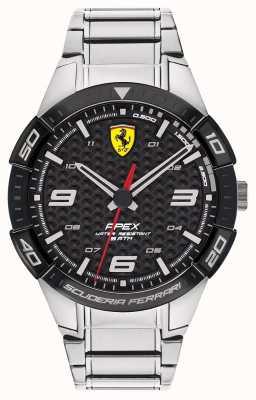 Scuderia Ferrari |男士的顶点|不锈钢手链|黑色表盘| 0830641