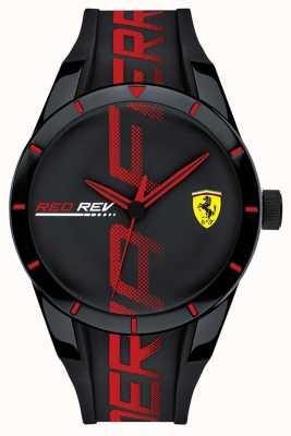 Scuderia Ferrari |男人的redrev |黑色/红色硅胶表带|黑色表盘| 0830614