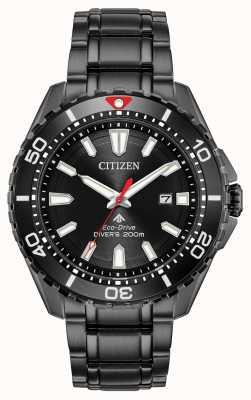Citizen 男士Promaster Diver Eco-Drive黑色PVD镀金 BN0195-54E