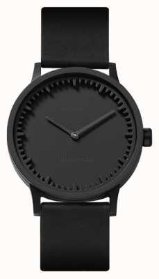 Leff Amsterdam |管表| t32 |黑色|黑色皮革表带| LT74212