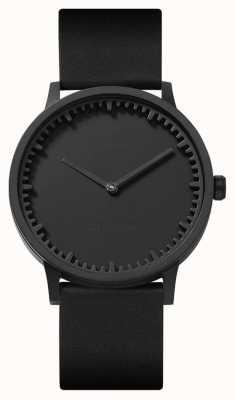 Leff Amsterdam |管表| t40 |黑色|黑色皮革表带| LT75212