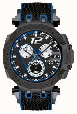 Tissot |男子T-比赛托马斯luthi 2019年|黑色橡胶表带| T1154173705703