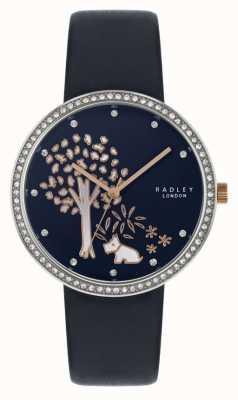 Radley |女式海军皮表带|水晶镶挡|树拨号 RY2783