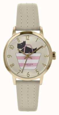 Radley |女式灰色皮革表带|打印狗在袋子拨号| RY2790