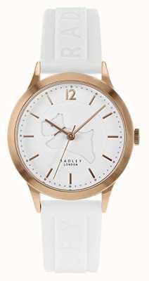 Radley  女式白色硅胶表带 白色表盘 玫瑰金表壳 RY2818