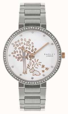 Radley |女士不锈钢手链|树图案表盘| RY4387