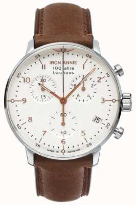 Iron Annie 包豪斯|计时|白色表盘|棕色皮革 5096-4