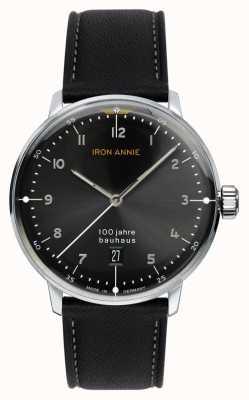 Iron Annie 包豪斯|黑色表盘|黑色皮革表带 5046-2