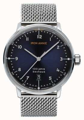 Iron Annie 包豪斯|蓝色表盘|不锈钢网 5046M-3