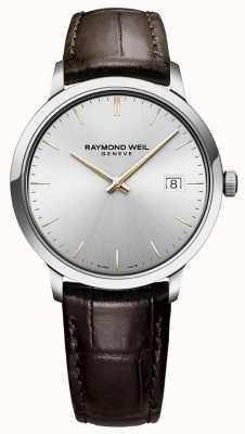 Raymond Weil |男士托卡塔|棕色皮革表带|银色表盘| 5485-SL5-65001