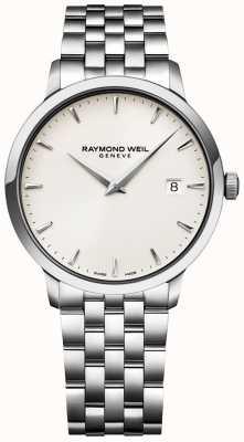 Raymond Weil 男士托卡塔手表奶油表盘不锈钢手链 5488-ST-40001