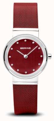 Bering 女装|经典|红色pvd钢网手链 10126-303