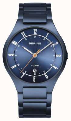 Bering 男士|钛|蓝色表盘|蓝色手链 11739-797