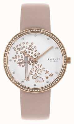 Radley |女式裸色皮革|白树拨号|水晶镶挡 RY2836