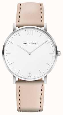 Paul Hewitt |男士水手线|米色皮革表带| PH-SA-R-5M-W-22S