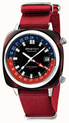 Briston Clubmaster gmt限量版|自动|红色北约表带 19842.SA.T.P.NR
