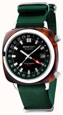 Briston Clubmaster gmt限量版|汽车|绿色北约表带 19842.SA.T.10.NBG