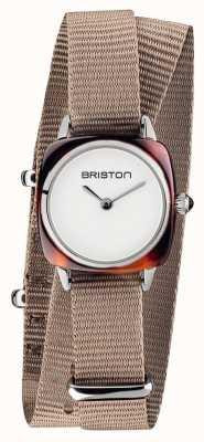 Briston | clubmaster女士|灰褐色北约|醋酸r | 19924.SA.T.2.NT - DOUBLESTRAP