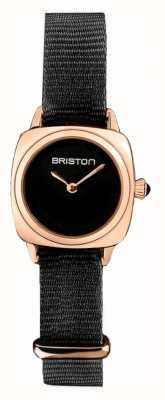 Briston | clubmaster女士|黑色北约|玫瑰金pvd表壳| 19924.SPRG.M.1.NB - SINGLESTRAP