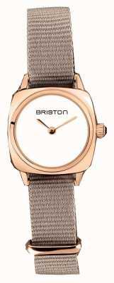 Briston | clubmaster女士|单灰褐色北约|玫瑰金pvd表壳| 19924.SPRG.M.2.NT - SINGLESTRAP