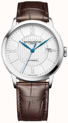 Baume & Mercier |男装|自动|棕色皮革|银表盘| M0A10214