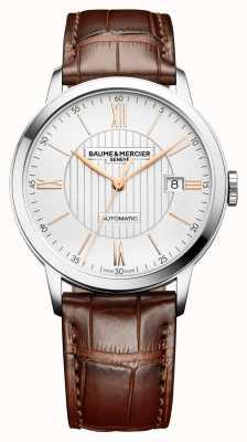 Baume & Mercier |男装|自动|棕色皮革|银表盘| M0A10263