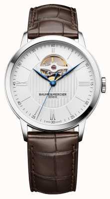 Baume & Mercier |男装|棕色皮革|银表盘|自动| M0A10274