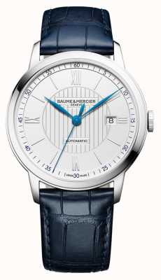 Baume & Mercier |男装|自动|蓝色皮革|银表盘| M0A10333