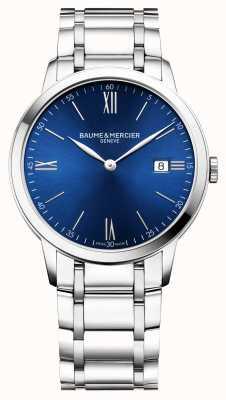 Baume & Mercier |男装|不锈钢手链|蓝色表盘| M0A10382