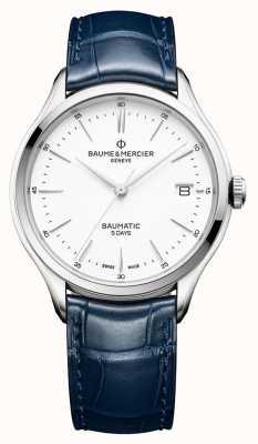 Baume & Mercier |男士克利夫顿|宝贝蓝色皮革|白色表盘| M0A10398