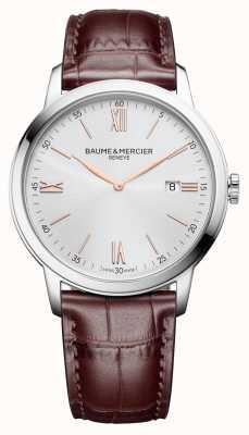 Baume & Mercier |男装|浅棕色皮革|银表盘| M0A10415