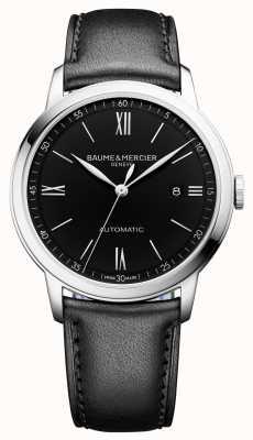 Baume & Mercier |男装|自动|黑色皮革|黑色表盘| M0A10453