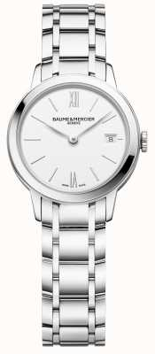 Baume & Mercier |女式|不锈钢手链|白色表盘| M0A10489