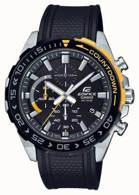 Casio |大厦经典|黑色橡胶表带|日期显示| EFR-566PB-1AVUEF