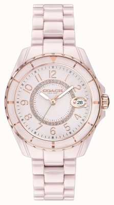 Coach |女士|普雷斯顿|粉色陶瓷手链|粉色表盘| 14503463